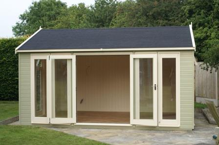Beacon business park news uk garden buildings expand for Garden sheds built on site